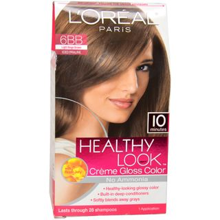 Oreal Healthy Look Creme Gloss Color # 6BB Light Beige Brown Hair