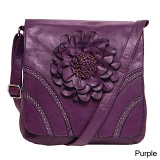 Donna Bella Designs Modern Hippie Floral Accent Crossbody Bag