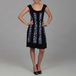 Connected Apparel Womens Printed Dress