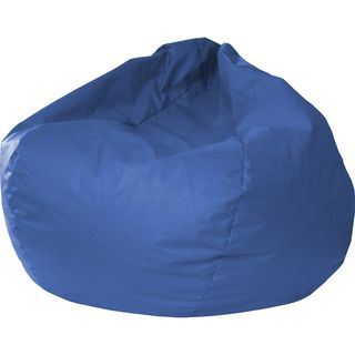Hudson Industries Medium Blue Leather Look Vinyl Extra Large Bean Bag