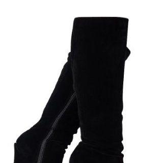 64L New Womens Wedge Platform High Heel Ladies Long Knee Zip Up Boots