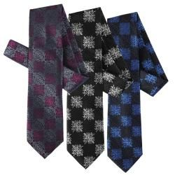 Boston Traveler Mens Scroll Pattern Microfiber Tie and Hanky Set