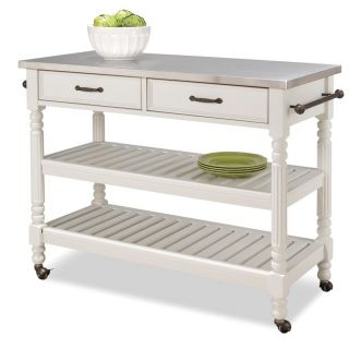 Home Styles Savannah White Kitchen Cart Today $423.77 4.0 (3 reviews