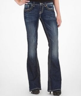 Miss Me Mixed Hardware Flare Stretch Jean DK 35B Clothing