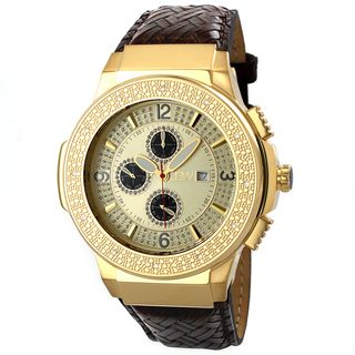 JBW Mens Stainless Steel Saxon Gold Diamond Watch