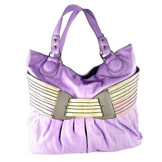 H2W Womens Purple Waist Belt Handbag