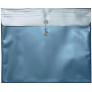 Metallic Blue 15 in x 18 in Plastic Envelope (Set of 12)
