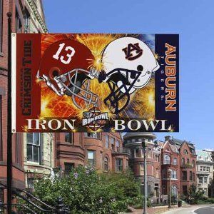 Auburn Tigers vs. Alabama Crimson Tide 3 x 5 Iron Bowl