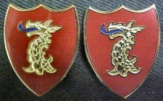 114th Field Artillery Distinctive Unit Insignia   Pair
