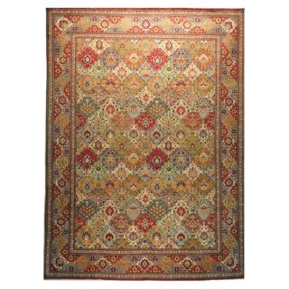 Hand knotted Persian Tabriz Multi Color Wool Rug (97 x 131