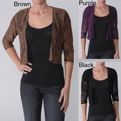 Max by Adi Designs Womens Laser cut Cropped Bolero