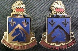 117th Cavalry Distinctive Unit Insignia   Pair Clothing