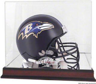 Baltimore Ravens Mahogany Helmet Logo Display Case with