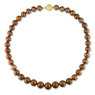 Miadora 14k Gold Brown Tahitian Pearl Necklace (10 14 mm) MSRP $