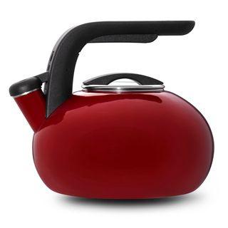 KitchenAid Red 2 qt. Porcelain/ Enamel Whistling Teakettle