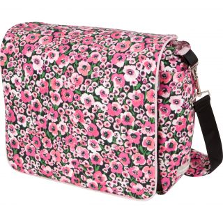 The Bumble Collection Jessica Messenger Diaper Bag in Peony Paradise