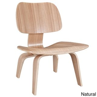 Molded Natural Plywood Lounge Chair