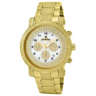 JBW Mens Victor 18k Gold plated Stainless Steel Diamond Watch