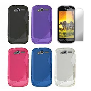 Premium HTC myTouch 4G Curved TPU Case with Screen Protector
