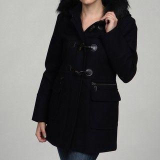 Fleet Street Faux Fur Hood Coat