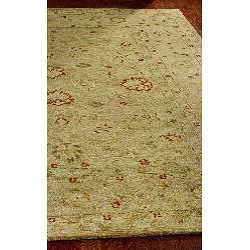 Handmade Majesty Light Brown/ Beige Wool Rug (96 x 136)