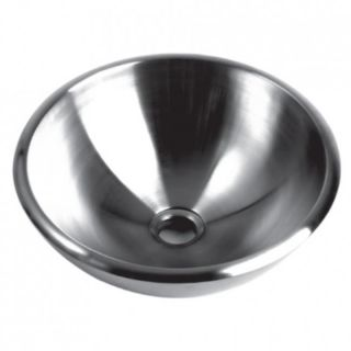 Brushed/ Polished Stainless Steel 15 inch Bathroom Vessel Sink