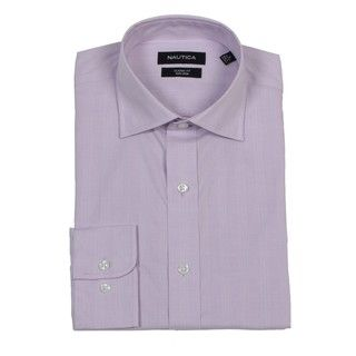 Nautica Mens Light Purple Non iron Dress Shirt