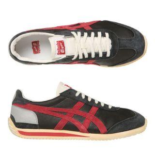 Modèle California 78 LE VIN. Coloris  noir, rouge et argent. Baskets