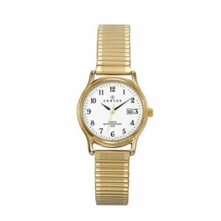 Certus Paris womens gold tone brass white dial date watch Today $54