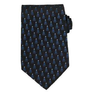 Versace Mens Christmas Tree Silk Tie