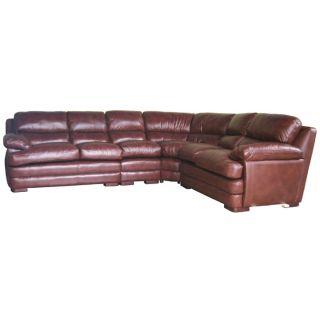 Geneva Leather Sectional Sofa