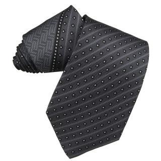 Versace Mens Greek Key and Square Stripe Silk Tie
