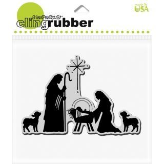 Stampendous Christmas Manger Scene Cling Rubber Stamp
