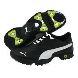 Puma Mens Scramble Black/ Gray/ Green Golf Shoes