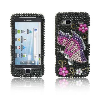 Luxmo HTC G2 Rainbow Butterfly Rhinestone Case