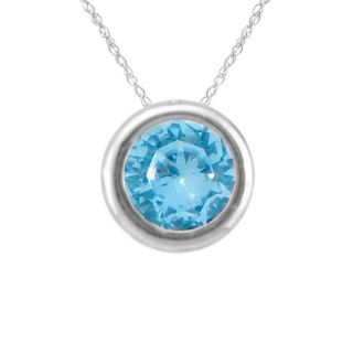 10k Gold December Birthstone Bezel set Swiss Blue Topaz Designer