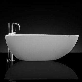 Spa Collection Simplicity 67 inch Mombasa Stone Resin Tub with Chrome