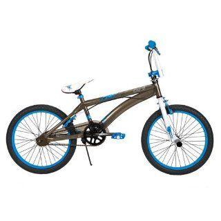 Huffy 20 Inch BMX Boys Revolt Bike (Raw Steel and White