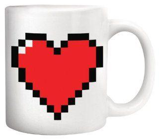Kikkerland Pixel Heart Morphing Mug Kitchen & Dining