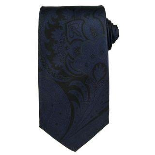 Versace Mens Acanthus Leaf with Greek Key Silk Tie