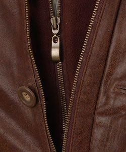 Giovanni Verucci Mens Top Grain Leather Coat