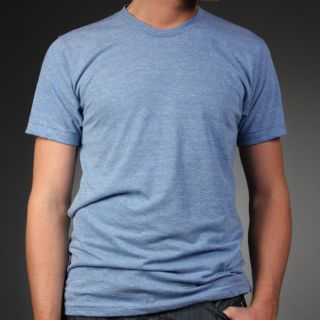 Laguna Beach Jean Co Mens Blue Crew Neck T Shirt