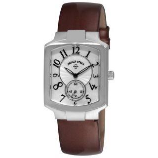 Philip Stein Womens Signature Classic Chocolate Strap Watch