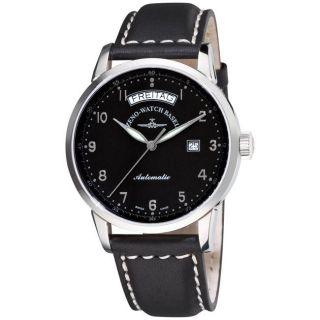 Zeno Mens Magellano Black Strap Automatic Day Date Watch