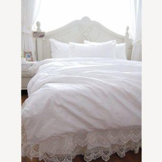 Shabby Style White Elegant With Romantic Lace Duvet Cover