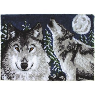 Wonderart Midnight Wolves Latch Hook Kit