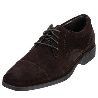 Calvin Klein Mens Billy Dark Brown Suede Oxfords