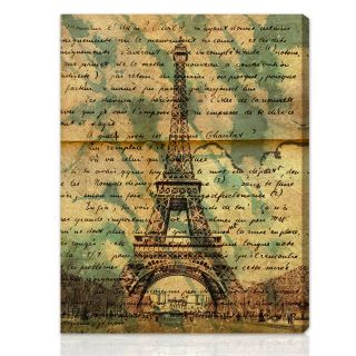 Oliver Gal Artist Co. Eiffel Words Gallery wrapped Canvas Art Today