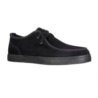 Lugz Mens Sparks Black Suede Slip on Shoes