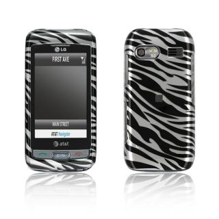 LG Vu Plus GR700 Silver Zebra Design Crystal Case